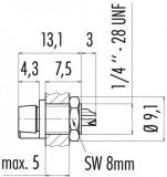 Binder Flanschstecker Serie 719 - 4-polig
